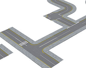 VR / AR ready Roads Construction Kit Low-poly 3D