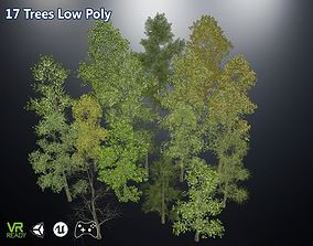Game Ready Low Poly Trees 3D model