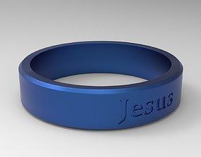 3D print model Jesus Ring Blue