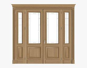 Door classic with glass quad 01 3D model