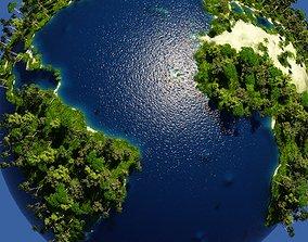 3D Green Earth Globe