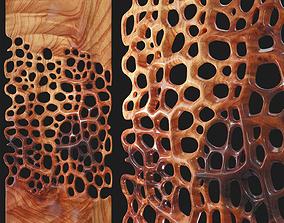 Decor wood panel 3 3D model