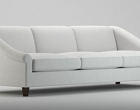 3D White indoor sofa