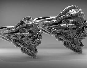 skullring Skull ring Wedding STL 3d model for 3d printer
