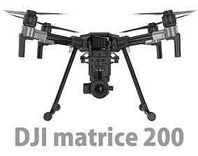 3D DJI Matrice 200 Drone