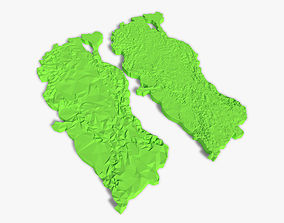3D model Turkey Terrain high and low