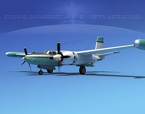 Douglas B-26 Marketeer V04 3D model