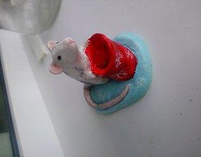 Cute rat 3D printable model