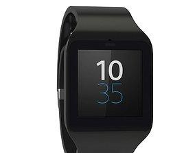 3D model Sony Smart Watch 3 Black