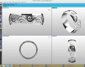 Engraved wedding band 3D print model