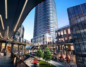 Skyscraper Business Center block center 3D model