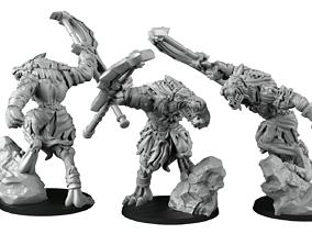 Wolfmen confrontation 3D print model