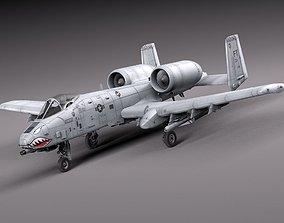 3D A-10 Thunderbolt Fairchild Republic