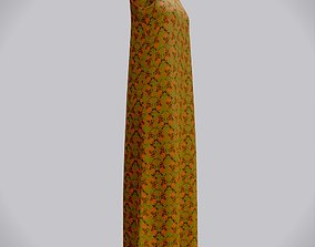 Floral gown - female dress 3D model