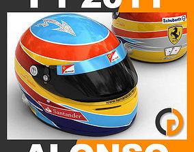 3D model Helmet F1 2011 Fernando Alonso