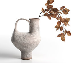 3D Pitcher with Dried Leaves