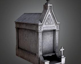 3D asset Cemetery Mausoleum 4 CEM - PBR Game Ready