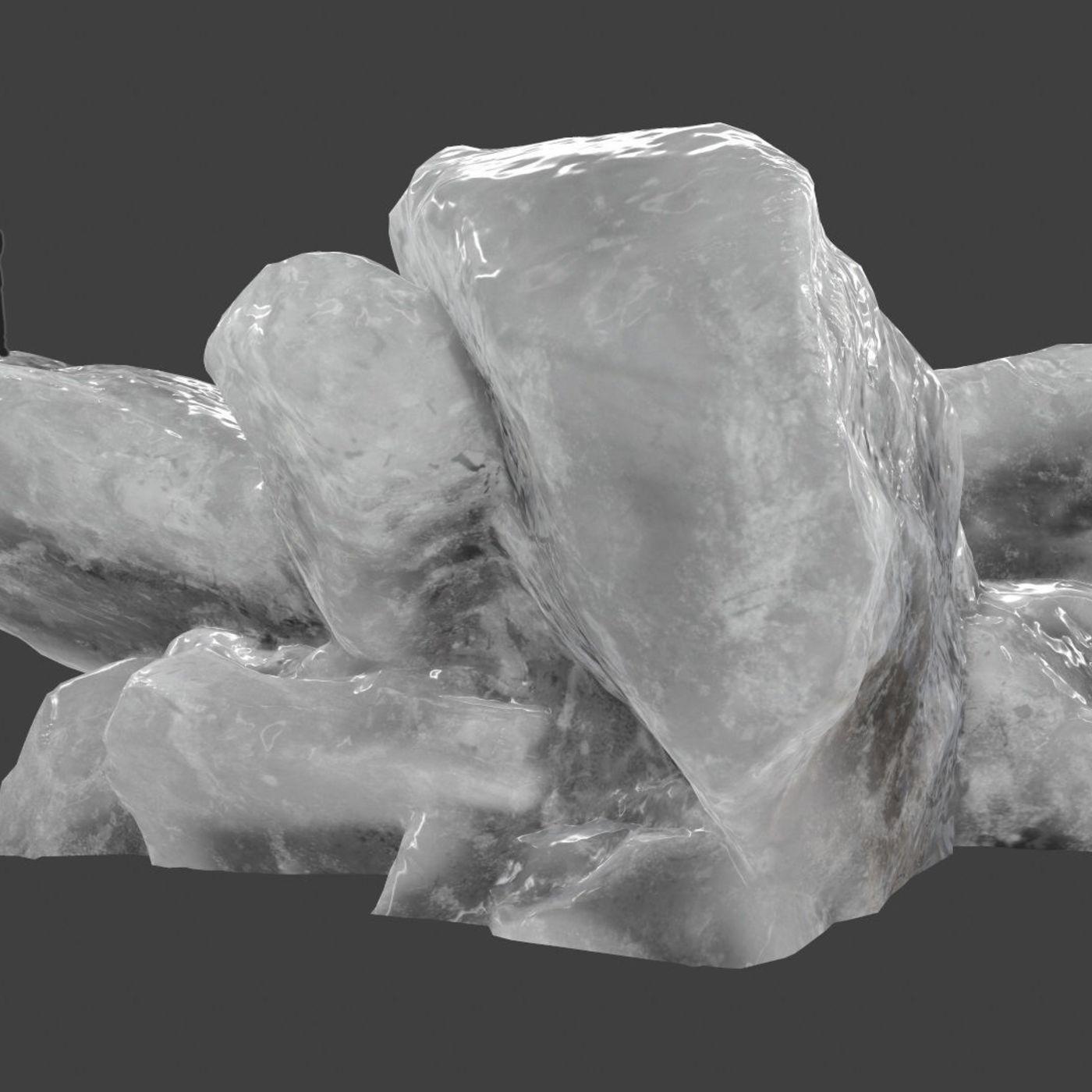 snow ice rocks