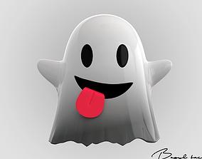 3D asset Emoji Ghost
