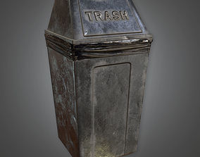 3D model Trash Can 02 Dive Bar - PBR Game Ready