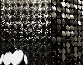 sequins decorative wall 02 3D model