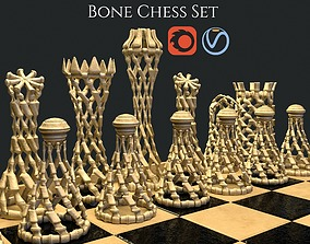 3D Bone Chess Set