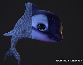 animal 3D model cartoon dolphine