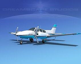 Beechcraft B55 Baron V21 3D