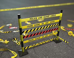 3D asset Crime Scenes - Police Line