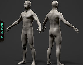 Average Male Body Basemesh 3D