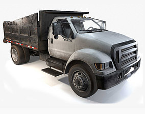 3D model realtime Dump Truck Game Ready PBR Textures