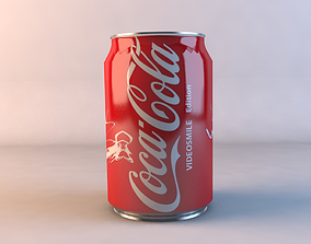 aluminium 3D CocaCola can