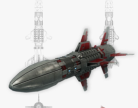 3D model Missile 7 sci-fi low poly