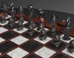 chessboard made on C4D 3D print model
