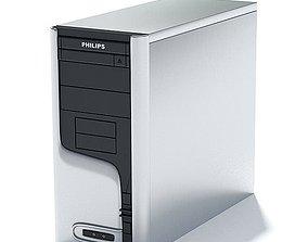 Philips Brand Desktop Computer 3D model