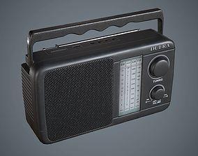 3D asset Radio Black