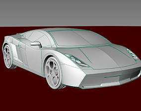 3D printable model Car gallardo 2006 all detal merge car 2