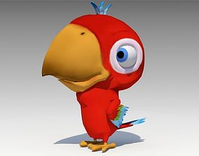 3D asset Parrot Toon Animated