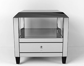 3D model Montreal Mirrored Square Accent Table Drawer