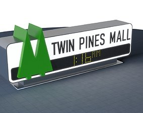 TWIN PINES MALL Sign 3D print 200mm