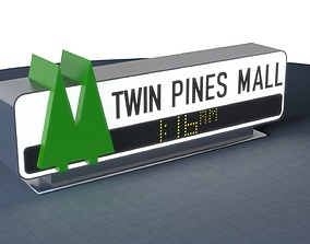 TWIN PINES MALL Sign 3D print 200mm to