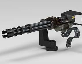 3D model VR / AR ready M134 Minigun
