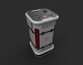 cargo-container 3D asset low-poly Sci-fi Barrel