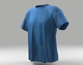 VR / AR ready T-shirt 3D model low poly