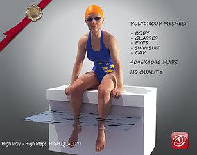 SwimmingpoolgirlCasualC 3D model