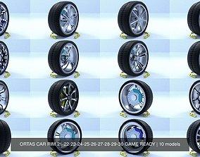 ORTAS CAR RIM 21-22-23-24-25-26-27-28-29-30 GAME 3D model