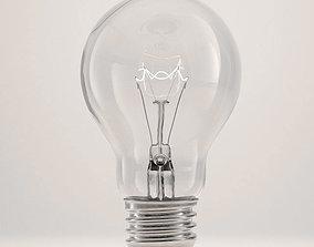Incandescent light bulb lamp 3D