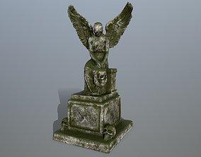 statue 3 3D asset game-ready