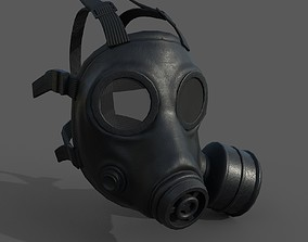 Gas mask helmet 3d model low-poly