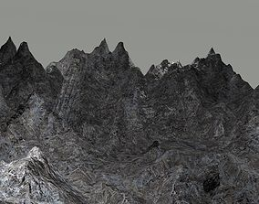 3D model Mountain landscape countryside
